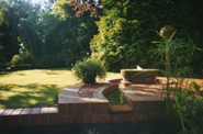 Patio With Water Feature in Cowbridge, Roberts - AFTER