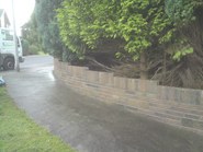 New Curved Wall in Cowbridge