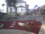 Landscaping in Coity Bridgend, White - AFTER