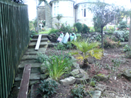 Landscaping in Coity Bridgend, White - DURING